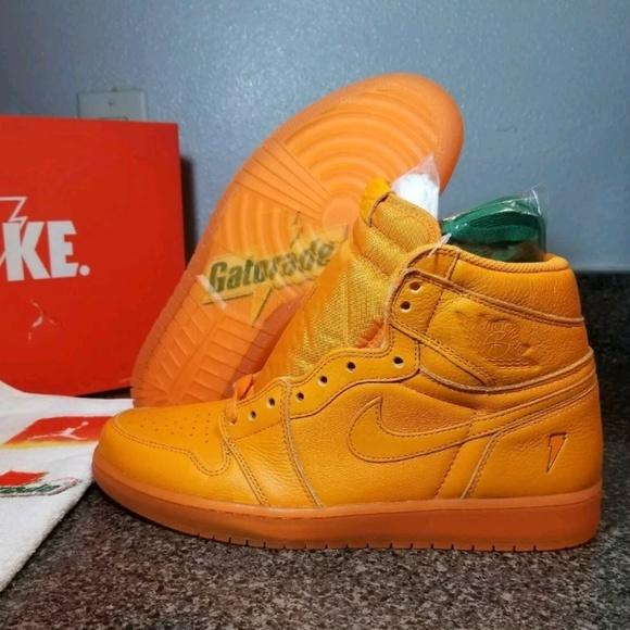 newest 764dc c41b8 Nike Air Jordan 1 HIGH GATORADE Orange AJ5997-880 NWT